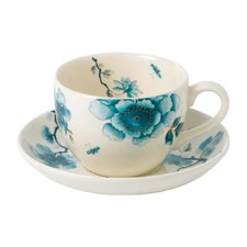 Wedgwood Blue Bird Teacup & Saucer