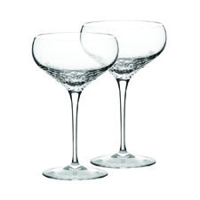 Vera Wang Sequin Crystal Champagne Saucer Pair