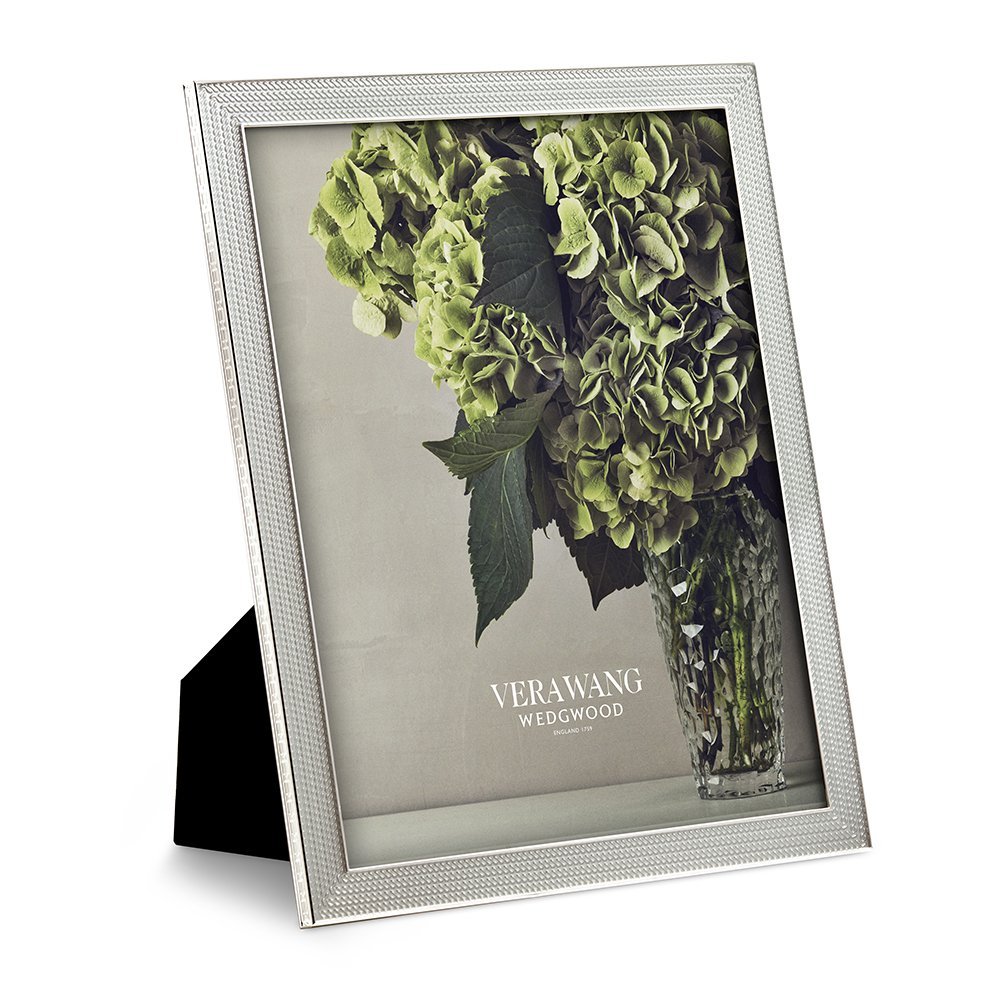 "Vera Wang Wedgwood With Love Nouveau Silver Frame 8""x10"""