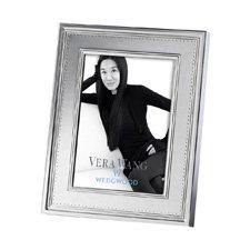 """Vera Wang Grosgrain Silver Giftware Frame 5""""x7"""" (12.5x18cm)"""