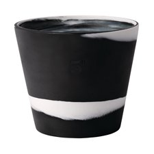 Wedgwood Burlington Pots White on Black Pot 5inch