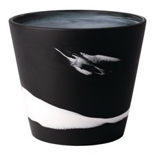Wedgwood Burlington Pots White on Black Pot 7inch