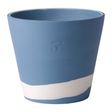 Wedgwood Burlington Pots White on Pale Blue Pot 5inch