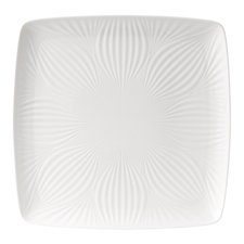 White Folia Square Tray 30cm