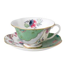 Wedgwood Butterfly Bloom Teaware Green Teacup & Saucer