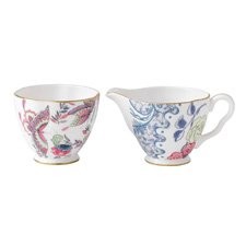 Wedgwood Butterfly Bloom Teaware Sugar & Creamer