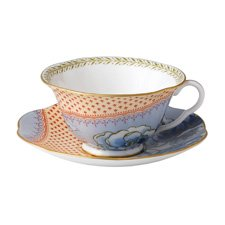 Butterfly Bloom Teaware Blue Teacup & Saucer