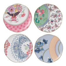Butterfly Bloom Teaware Set Of 4 Plates 20cm