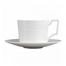 Intaglio Teacup & Saucer