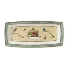 Sarah's Garden Rectangular Tray Green 30cm