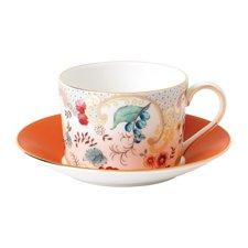 Wonderlust Rococo Flowers Teacup & Saucer