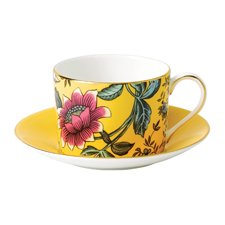 Wonderlust Yellow Tonquin Teacup & Saucer