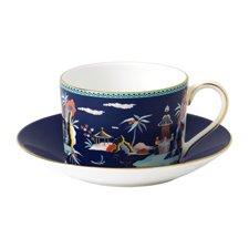 Wonderlust Blue Pagoda Teacup & Saucer
