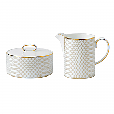 Wedgwood Arris Covered Sugar & Creamer