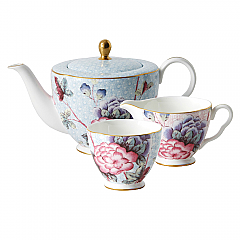 Wedgwood Cuckoo Teapot 1ltr, Sugar, Creamer Gift Set