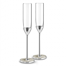Vera Wang Wedgwood With Love Nouveau Pearl Toasting Flutes