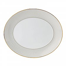 Wedgwood Arris Oval Plate 33cm