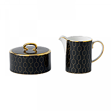 Arris Accent Covered Sugar & Creamer