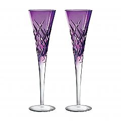 Vera Wang Wedgwood Duchesse Encore Lavender Flute Pair