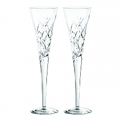 Vera Wang Wedgwood Duchesse Encore Crystal Clear Flutes Pair