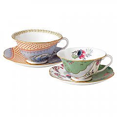 Butterfly Bloom 2 Teacups & Saucers Gift Set