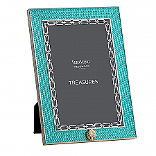 "Vera Wang Wedgwood With Love Treasures Aqua Seashell 4""x6"" Frame"