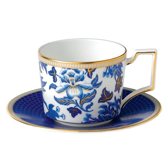 Hibiscus Teacup & Saucer