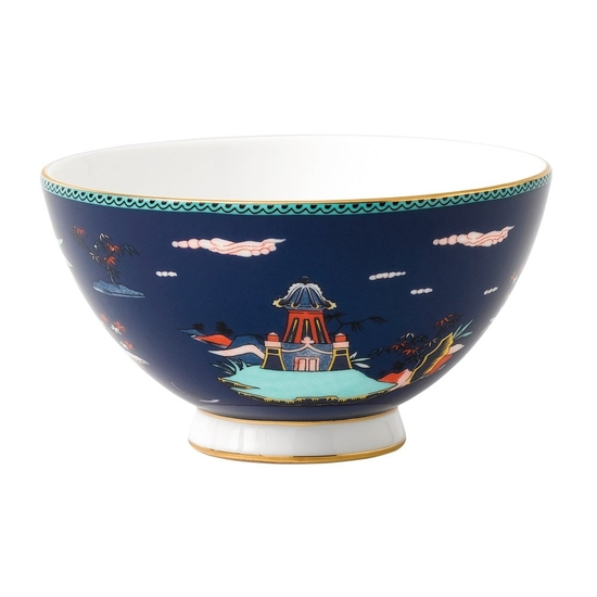 Wonderlust Blue Pagoda Bowl 11cm