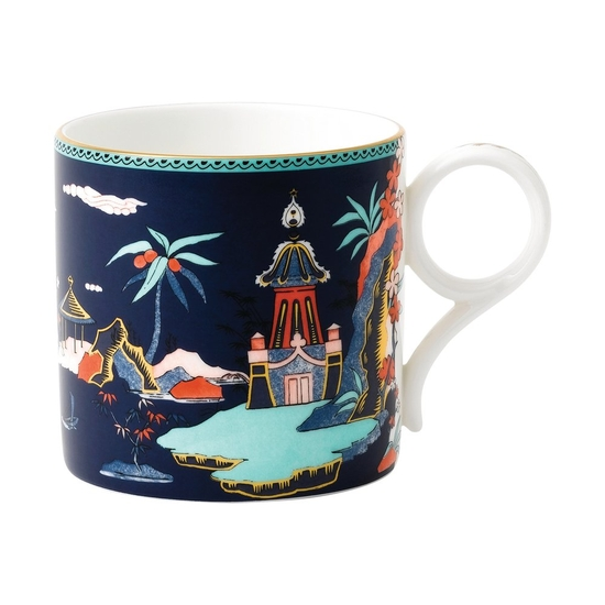 Wonderlust Blue Pagoda Mug Large 300ml