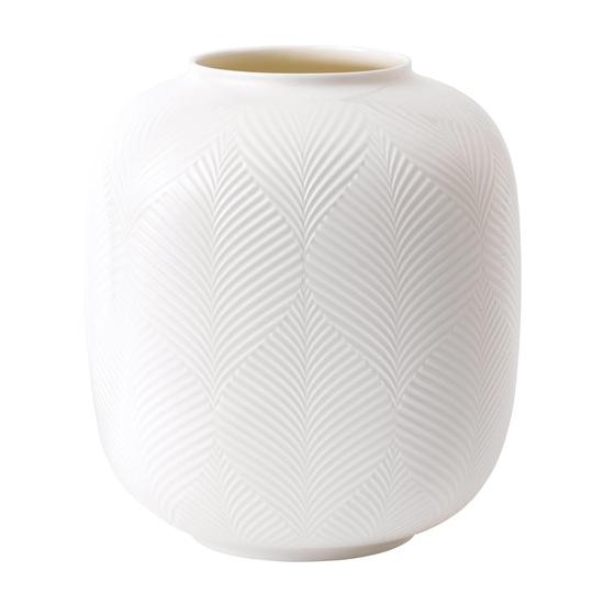 White Folia Round Vase 21cm