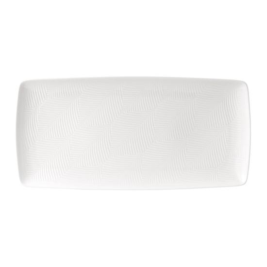 White Folia Rectangular Tray 32cm