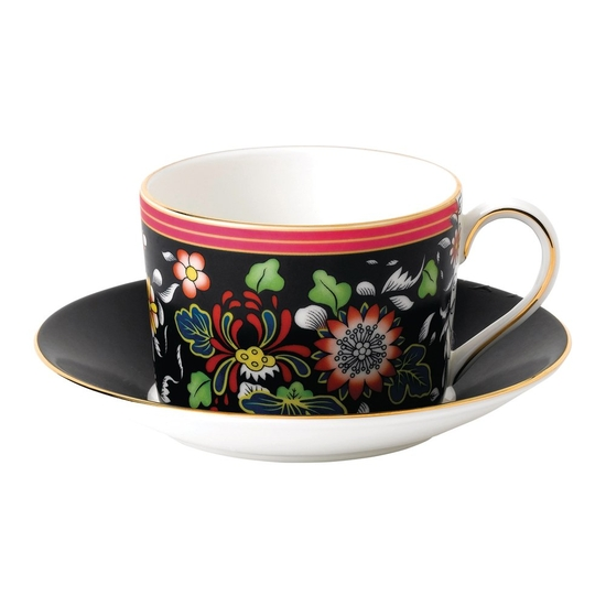 Wonderlust Oriental Jewel Teacup & Saucer