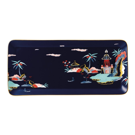 Wonderlust Blue Pagoda Sandwich Tray 34cm