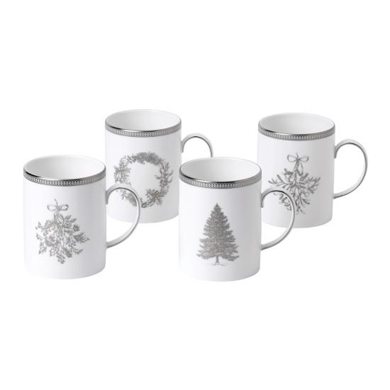 Christmas Mugs Set of 4