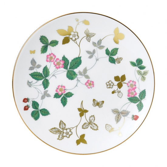 Wild Strawberry Gold Plate 20cm