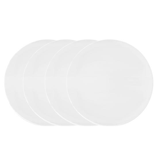 Vera Wang Vera Perfect White Dinner Plate 27cm Set of 4