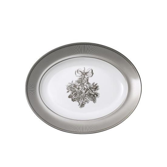 Christmas Oval Platter 35cm