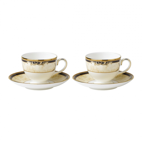 Cornucopia Teacup & Saucer Set of 2