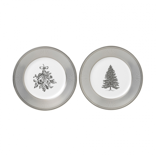 Winter White Plates 20cm Set of 2