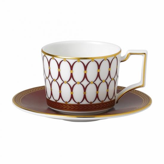 Renaissance Red Espresso Cup & Saucer