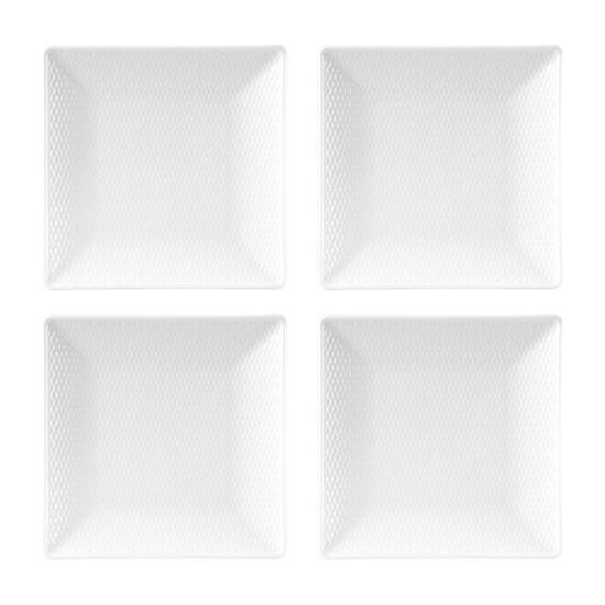 Gio Set of 4 Square Plates 14.5cm