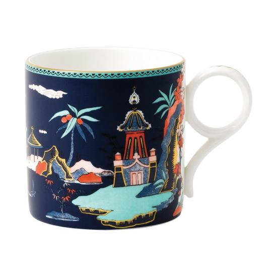 Wonderlust Blue Pagoda Mug Large 300ml