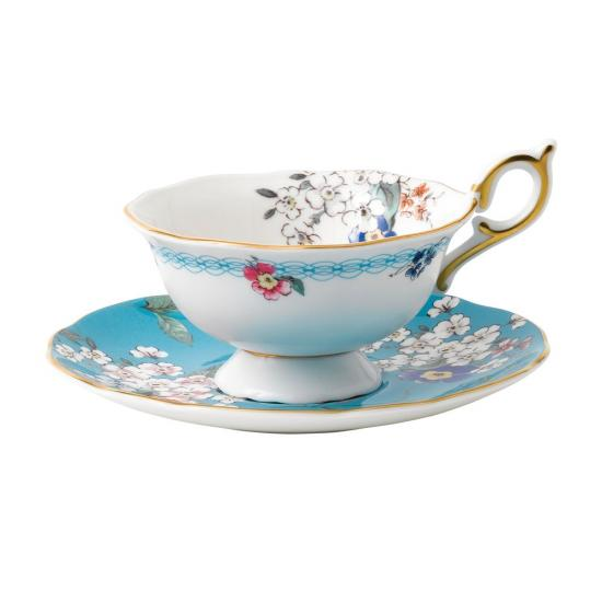 Wonderlust Apple Blossom Teacup & Saucer