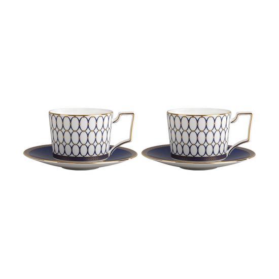 Renaissance Gold Teacup & Saucer Set of 2