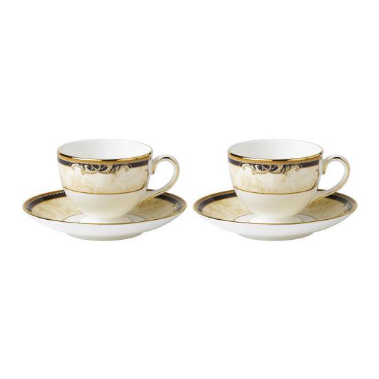 Cornucopia Teacup & Saucer Set of 2