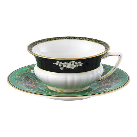 Wonderlust Emerald Forest Teacup & Saucer 140ml