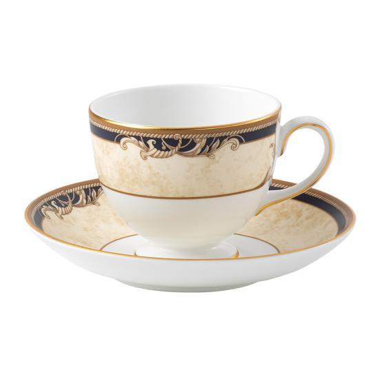 Cornucopia Teacup & Saucer Leigh